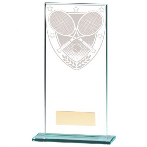 Millennium Tennis Jade Glass Award 180mm
